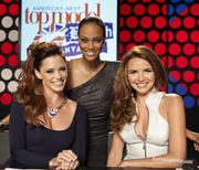 Pictures of Nadine Coyle on America�s Next Top Model -with Jessica Sutta,Tara Banks and Nigel Barker